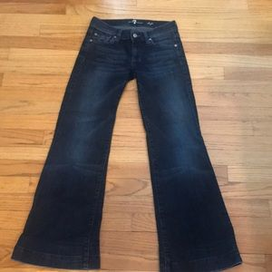 "EUC 7 for all mankind wider leg jean. ""Dojo"""